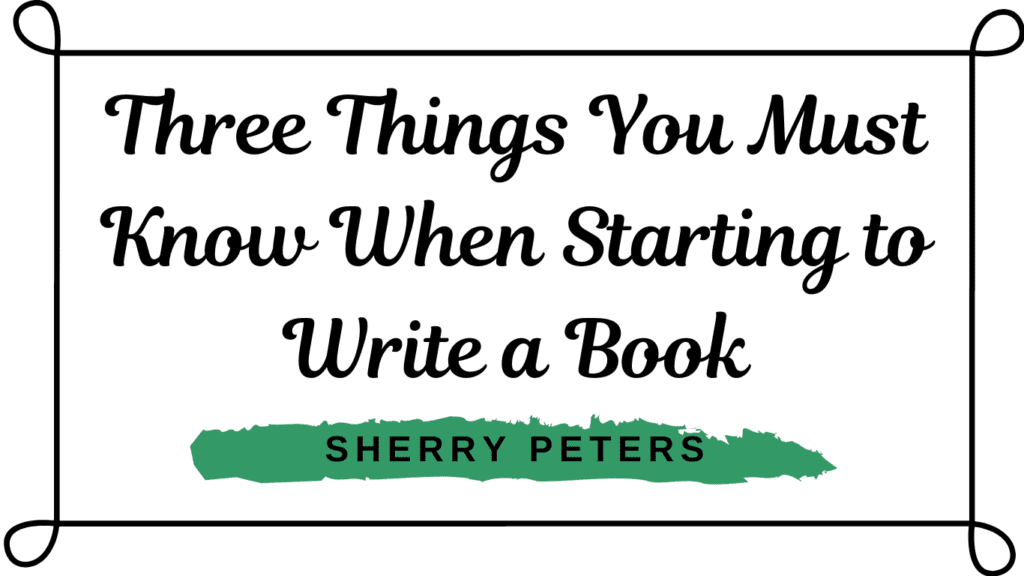 course graphic for three things you must know when starting to write a book